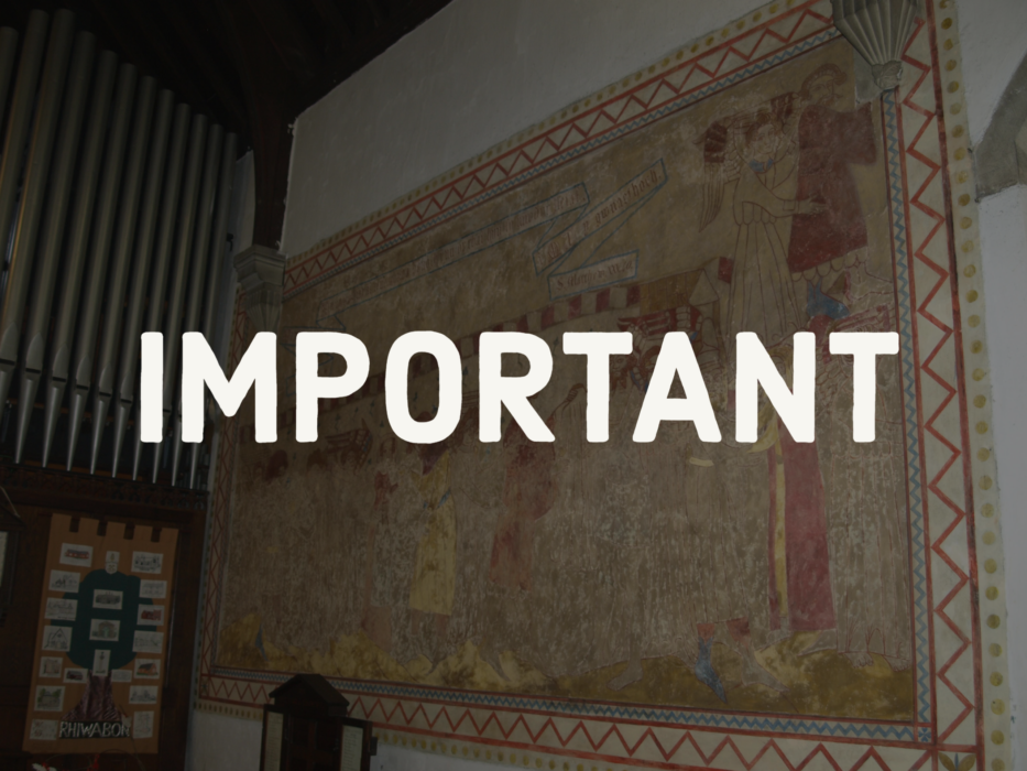 Church closed until further notice from 4th January